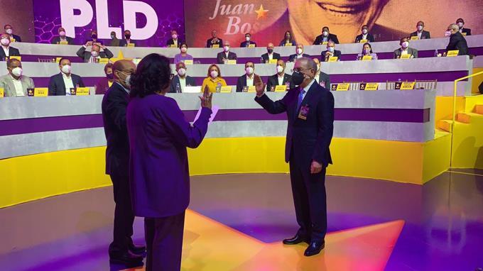 Danilo Medina como presidente del PLD